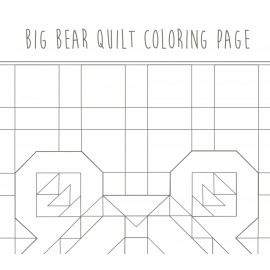 Coloring page - Big Bear Quilt